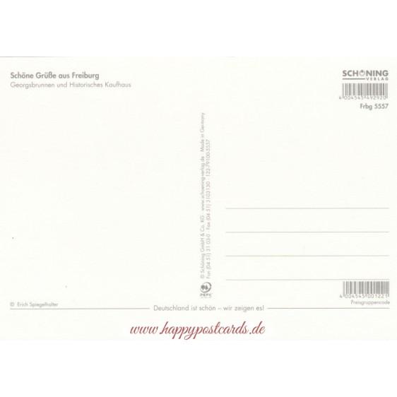 Freiburg - goldfoil - Viewcard