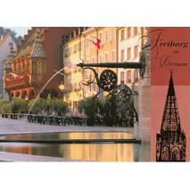 Freiburg - goldfoil - Viewcard
