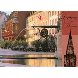 Freiburg - Goldfolie - Ansichtskarte