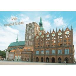 Stralsund - Town Hall - Viewcard