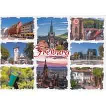 Freiburg - Multi - Viewcard