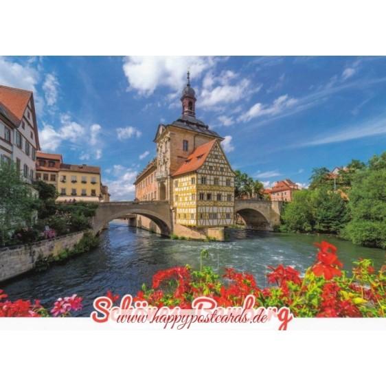 Beautiful Bamberg - Townhall -  Viewcard