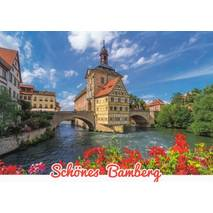 Beautiful Bamberg - Townhall -  Viewcard