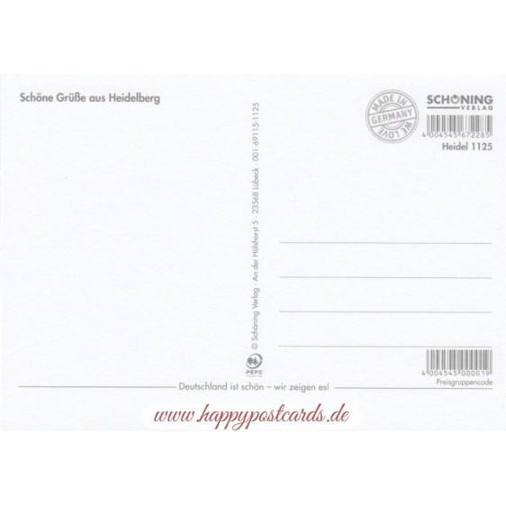 Heidelberg - Heart and Sun - Viewcard