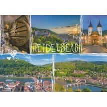 Heidelberg - Heart and Sun - Viewcard
