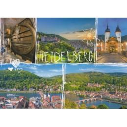 Heidelberg - Herz und Sonne - Ansichtskarte