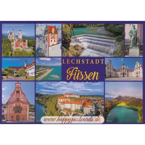 Füssen - Multi - Ansichtskarte
