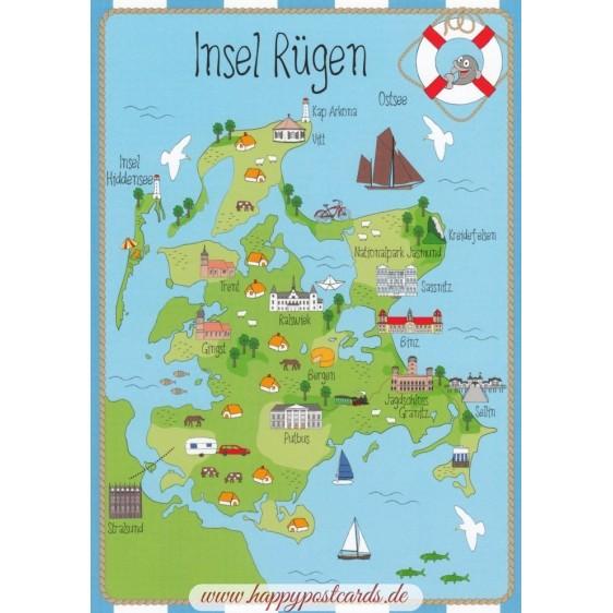 Island Rügen - map