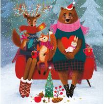 Christmas Animals - Mila Marquis Postcard