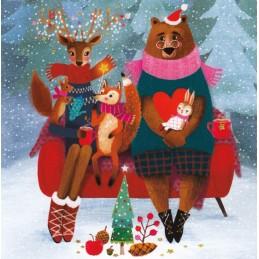 Weihnachtliche Tiere - Mila Marquis Postkarte