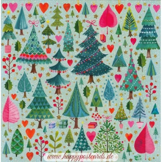 Christmas trees - Mila Marquis Postcard