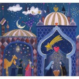 Crib and the three Magi - Mila Marquis Postcard