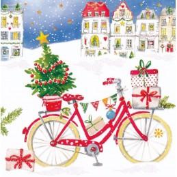 Weihnachtliches Fahrrad - Carola Pabst Postkarte