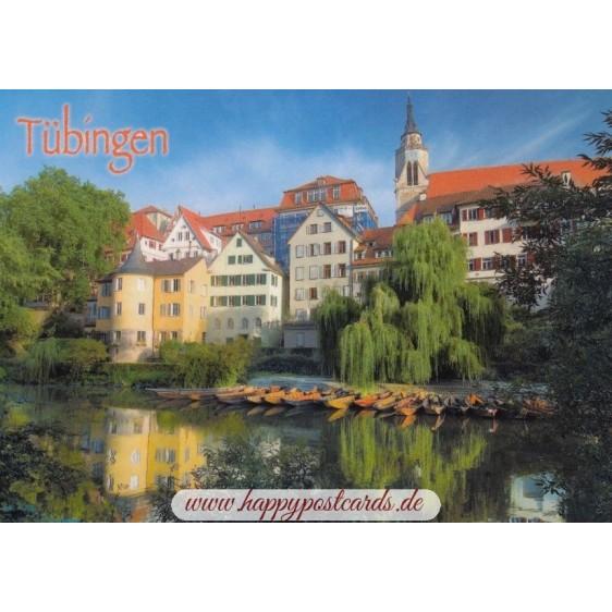 Tübingen - Neckar - Postkarte