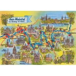 Das Maintal - Map - Postkarte