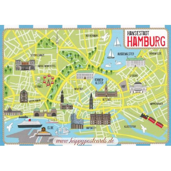 Hamburg - map