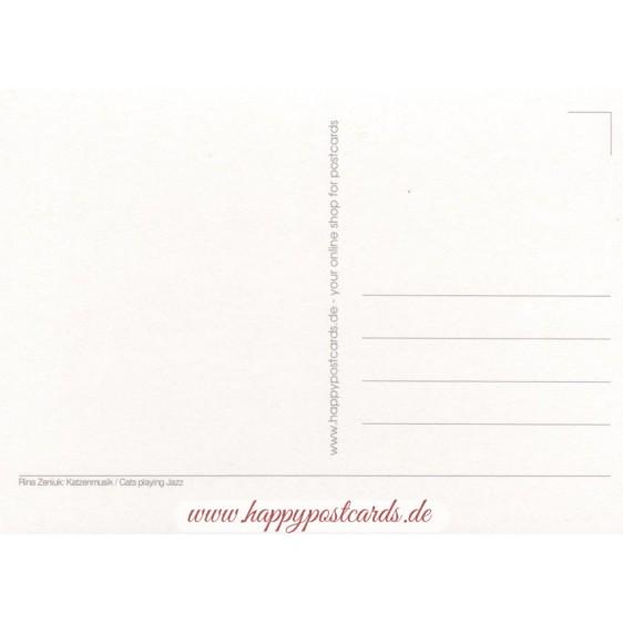 Katzenmusik - Blaue Katzen - Postkarte