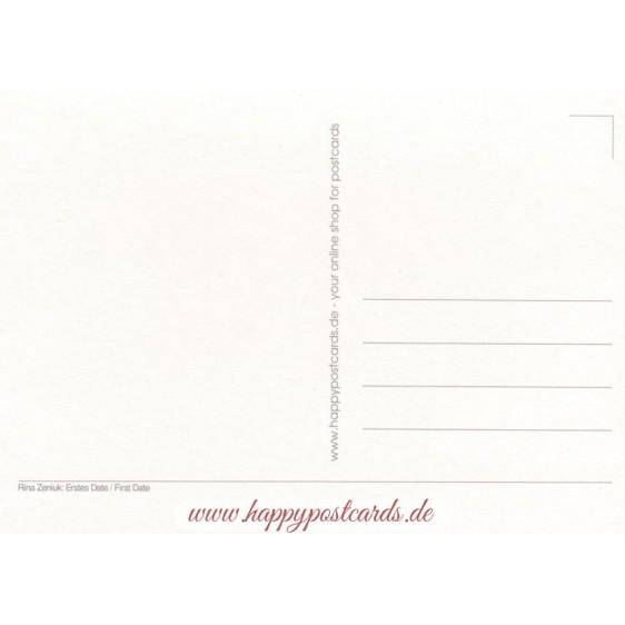 First Date - Blue Cats - Postcard