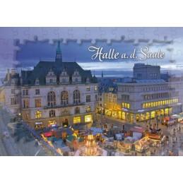 Halle - Puzzlerand - Ansichtskarte