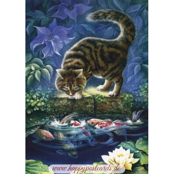 Sommernacht - Garmashova Postkarte