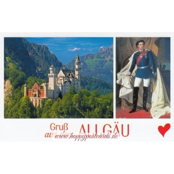Greeting from Allgau - HotSpot-Card