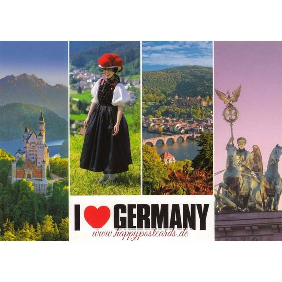 I love Germany - Ansichtskarte