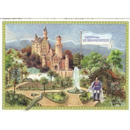 Castle Neuschwanstein 2 - Tausendschön - Postcard