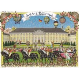 Berlin - Castle Bellevue - Tausendschön - Postcard