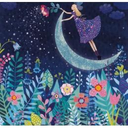Elfe mit Mond - Mila Marquis Postkarte