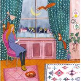 Lesende Frau - Mila Marquis Postkarte