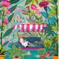 Frau im Garten - Mila Marquis Postkarte
