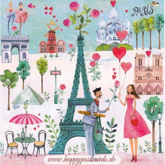 Paris - Mila Marquis Postcard