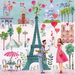 Paris - Mila Marquis Postkarte