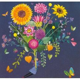 Strauß mit Sonnenblumen - Mila Marquis Postkarte