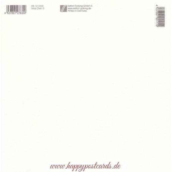 Hasen mit Osterglocke - Nina Chen Postkarte