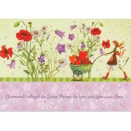 Blumenduft - Mila Marquis Postkarte