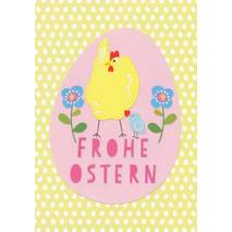 Frohe Ostern - Chicken - Carola Pabst Postcard
