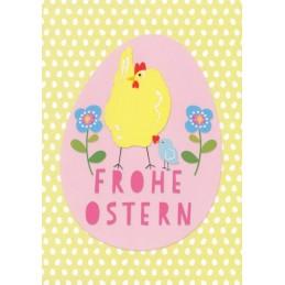 Frohe Ostern - Huhn - Carola Pabst Postkarte