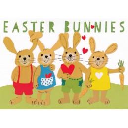Easter Bunnies - Carola Pabst Postcard