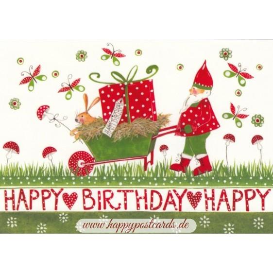 Happy Birthday - Zwerg- Kerstin Heß Postkarte