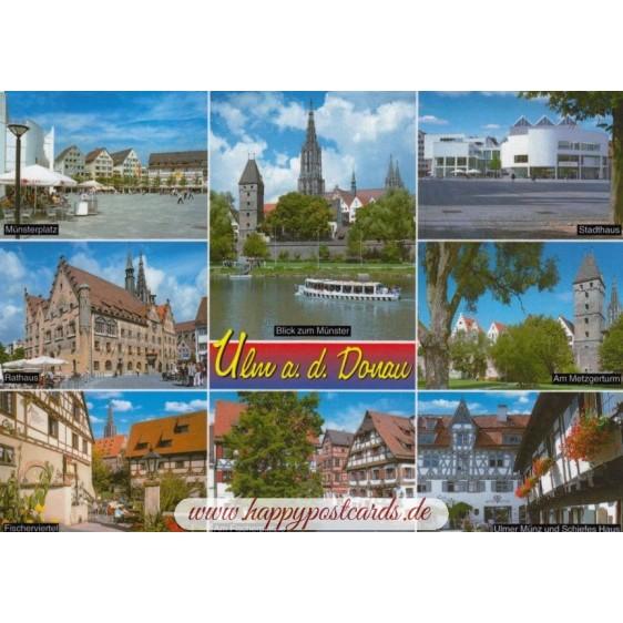 Ulm - Multi - Postkarte