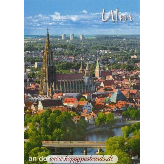 Ulm at the Danube - Postcard