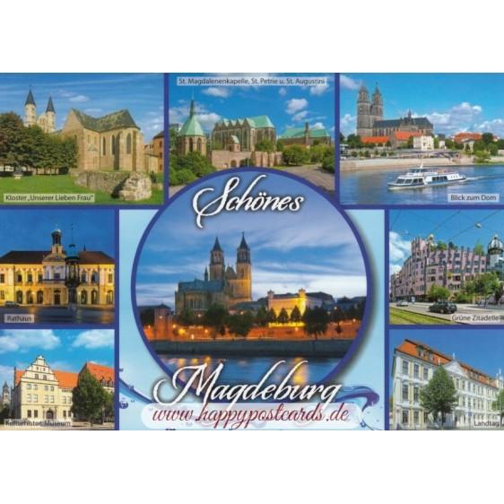 Beautiful Magdeburg - Viewcard