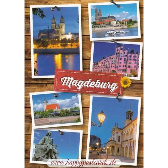 Magdeburg Multi - Viewcard
