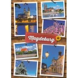 Magdeburg Multi - Viewcard