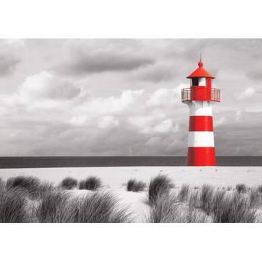 Rot-weißer Leuchtturm