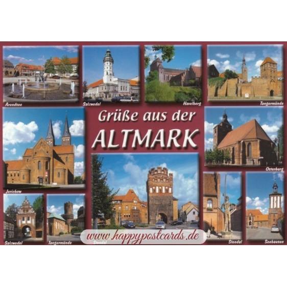 Grüße aus der Altmark - Ansichtskarte