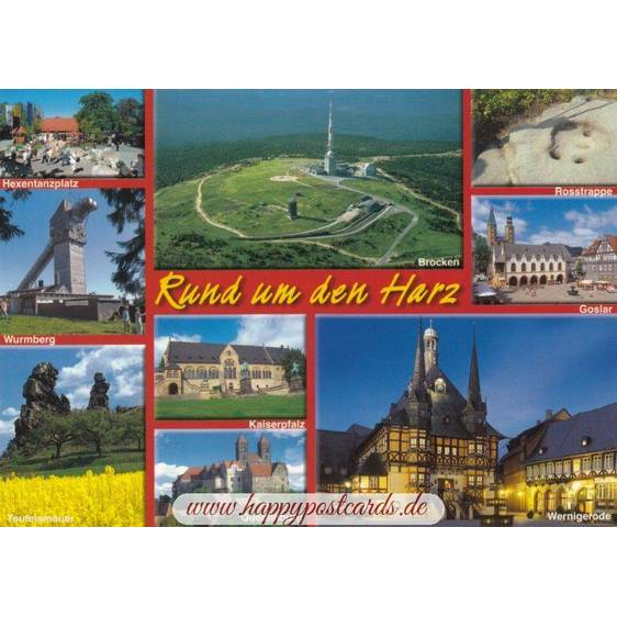 Around the Harz - Viewcard