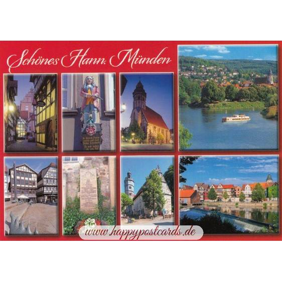Beautiful Hann. Münden - Postcard