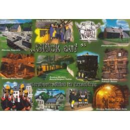 Erzgebirge - Glück auf - Ansichtskarte